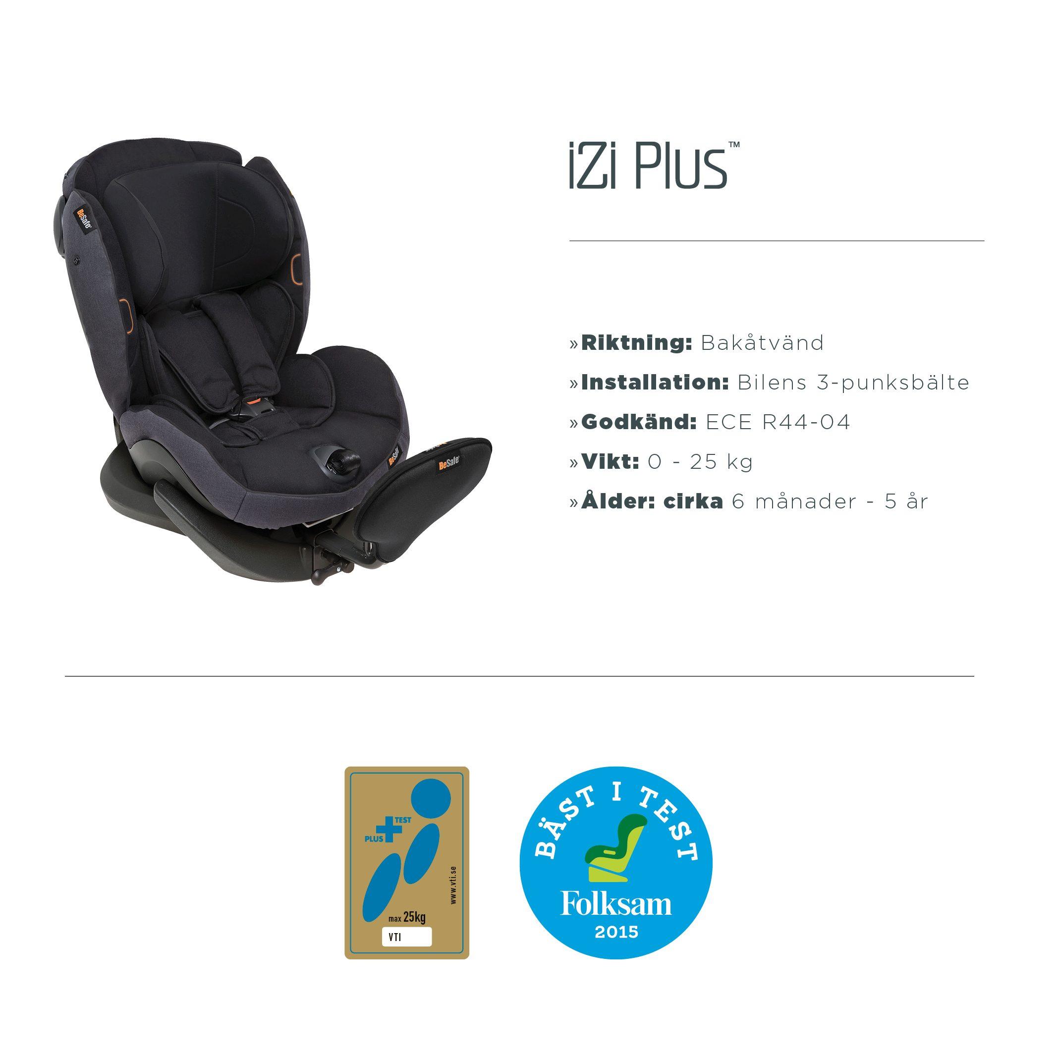 iZi Plus har inte blivit utvald till att testas av ADAC Stiftung  Warentestet då bilbarnstolen lanserades 2013. Dock är den testad och  godkänd av det svenska ... 1e159ac1d98e3